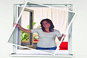 detachable magnetic window screen