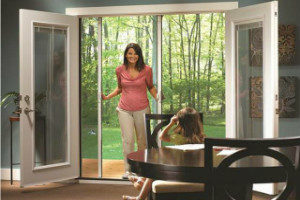 pleated sliding windows doors screen