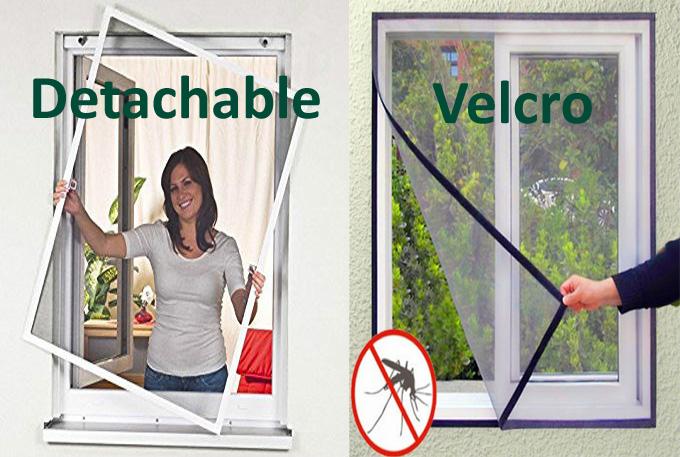 detachable magnetic velcro screen